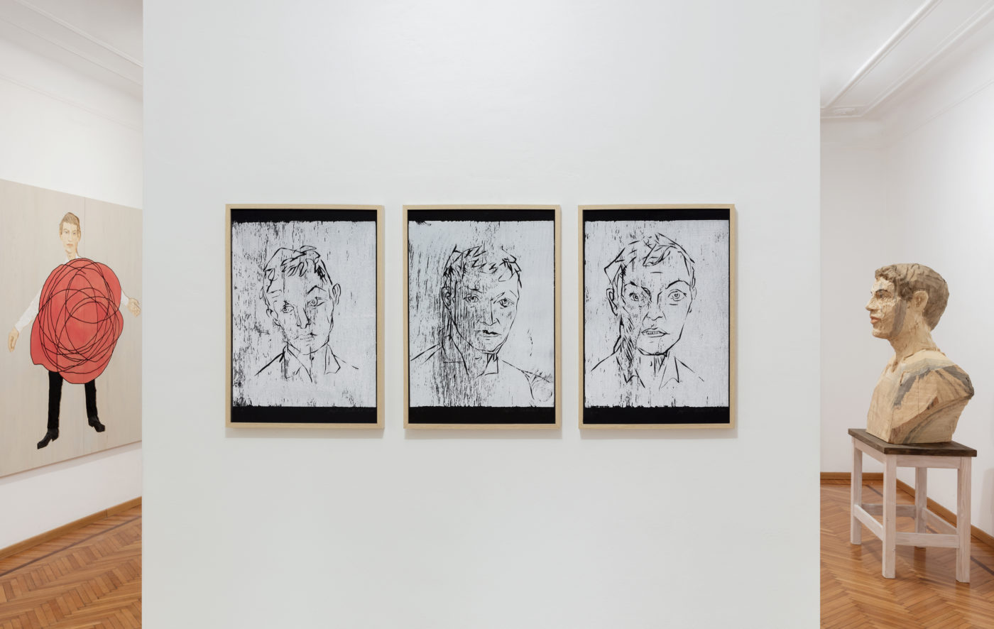 Stephan Balkenhol, exhibition view Galleria Monica De Cardenas, Milano
